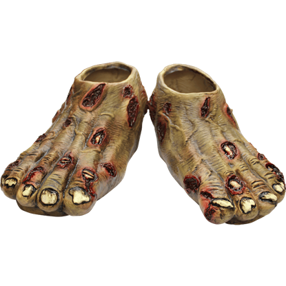 Rotted Zombie Costume Feet