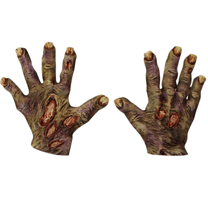 Rotted Zombie Costume Hands