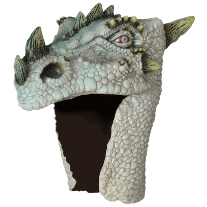 Albino Dragon Costume Head Mask
