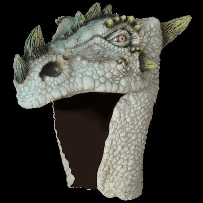 Albino Dragon Costume Head Mask