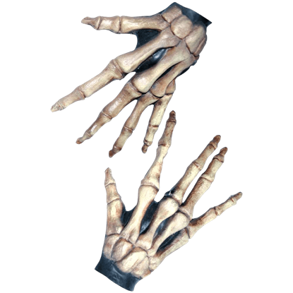Bone-Colored Large Skeleton Costume Hands