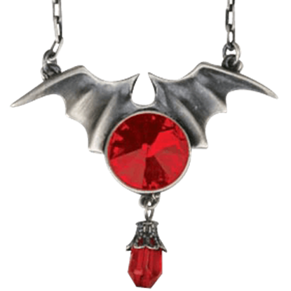 Batwing with Ruby Necklace