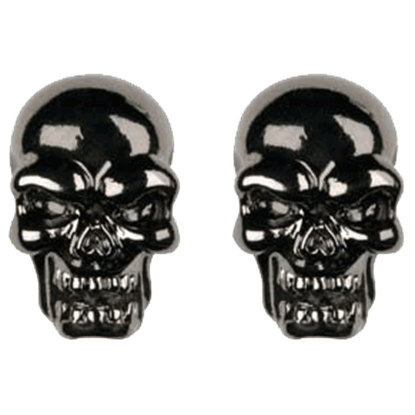Black Skull Head Stud Earrings