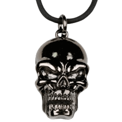 Black Skull Head Necklace