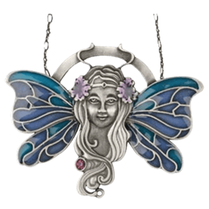 Blue Fairy Wings Necklace