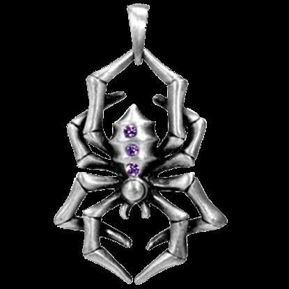 Purple Spider Necklace