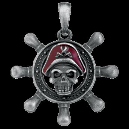 Pirate Shipwheel Necklace