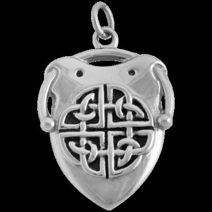 Celtic Quatrefoil Shield Necklace