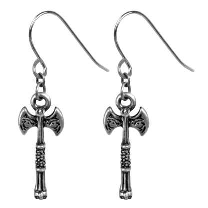 Viking Wolf Axe Earrings