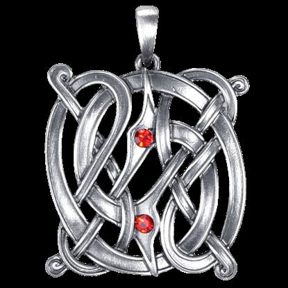 Red Gem Celtic Knot Necklace