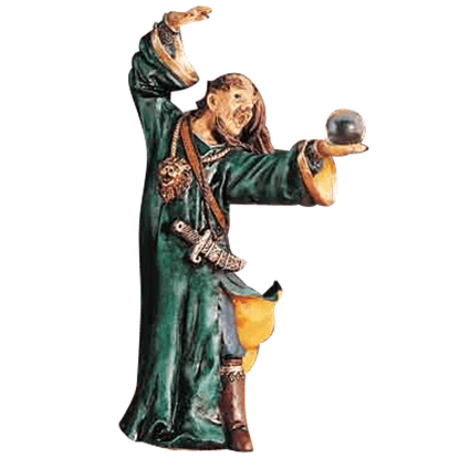 Medieval Wizard Statue