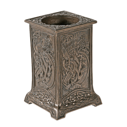 Large Celtic Lion Candleholder