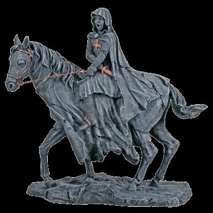 Templar On Horse Statue