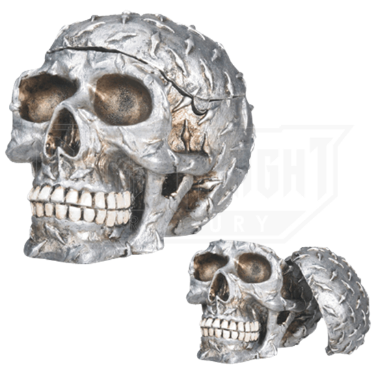 Diamond Plate Skull Container