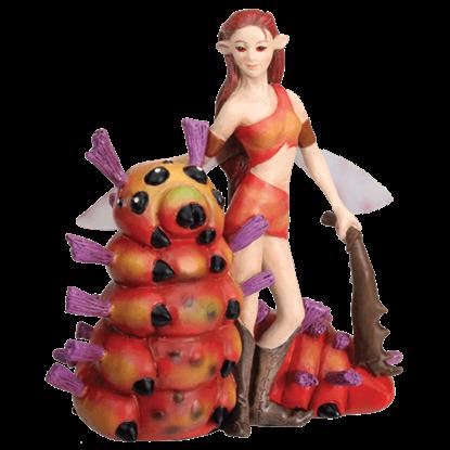 Caterpillar and Fairy Figurine