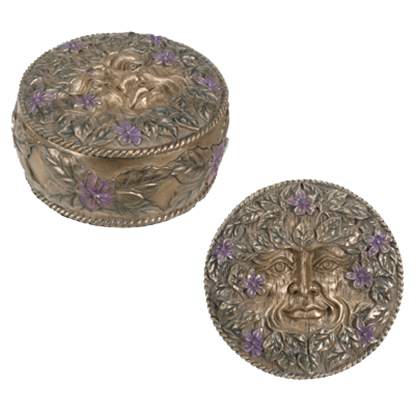 Spring Greenman Trinket Box