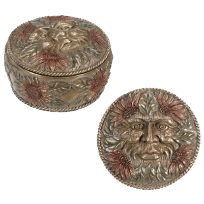 Summer Greenman Trinket Box
