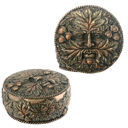 Fall Greenman Trinket Box