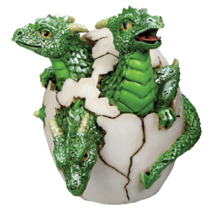 3 Headed Dragon Hatchling Statue
