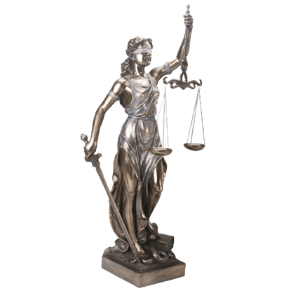 Tall Lady Justice Statue