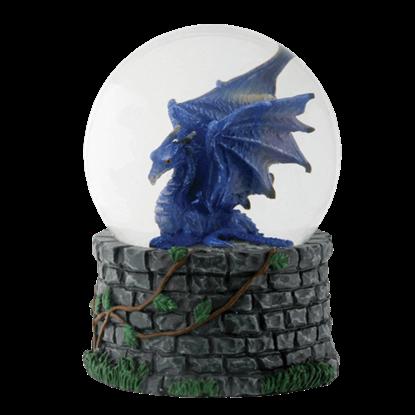 Midnight Dragon Water Globe
