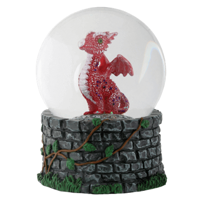 Red Baby Dragon Water Globe