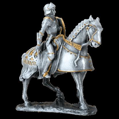French Knight on Horseback Statue