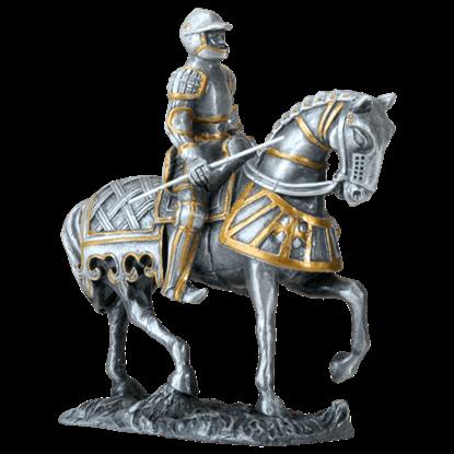 German Knight on Horseback Statue