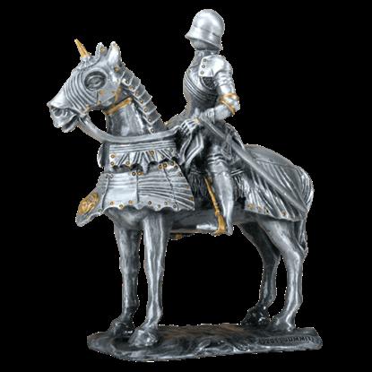 Gothic Knight on Horseback Statue