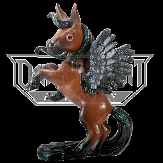 Brown Pegasus Figurine