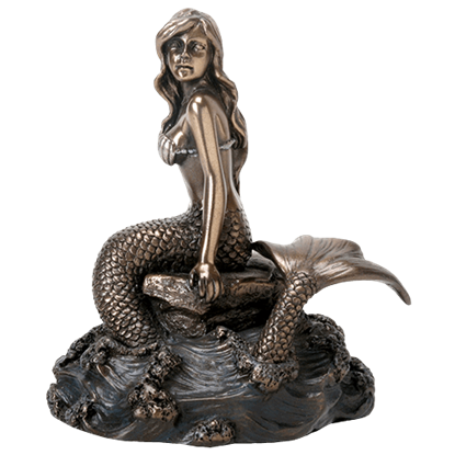 Bronze On the Rocks Mermaid Statue