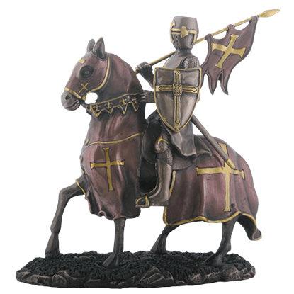 Bannerman Knight on Horse Statue