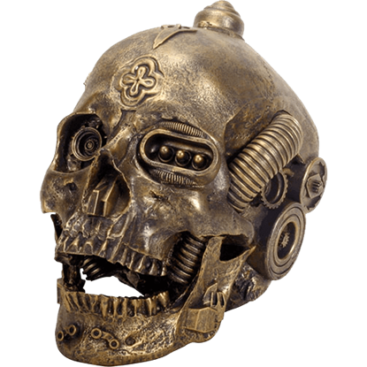Bright Metallic Machine Skull