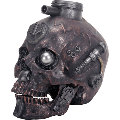 Dark Metallic Machine Skull