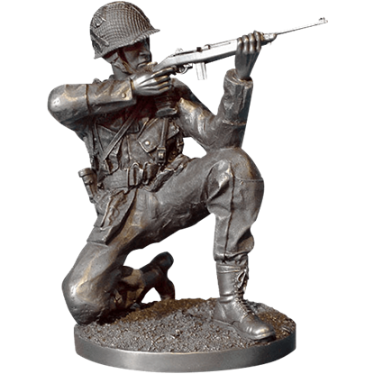 Taking Aim WWII Soldier Statue