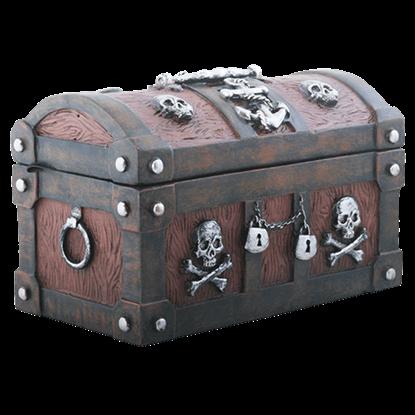 Anchor and Bones Pirate Trinket Box