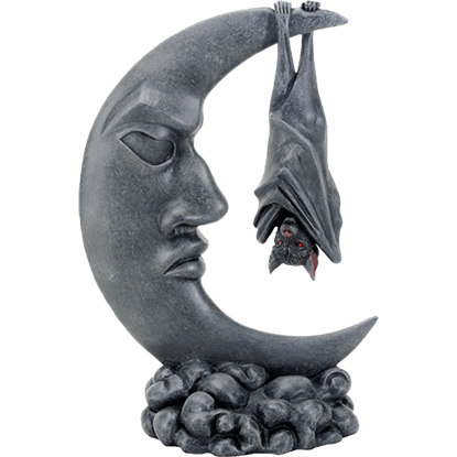 Bat on Moon Statue