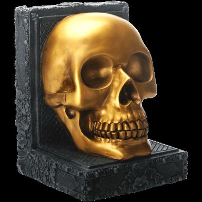 Golden Skull Bookend