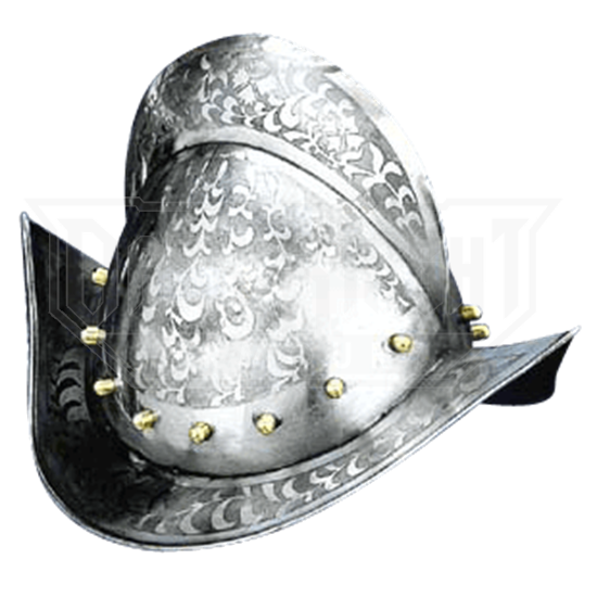 Engraved Comb Morion Helm