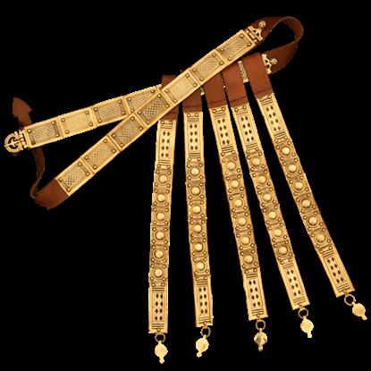 Decorative Brass Roman Belt with Apron