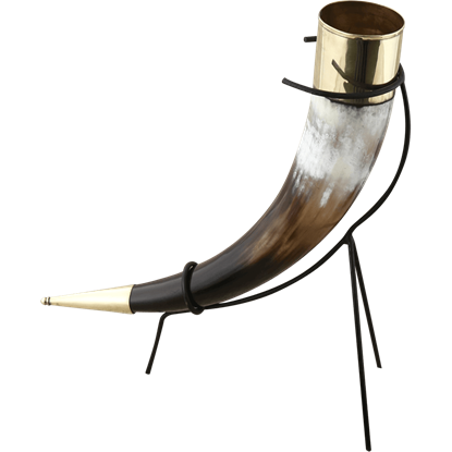 Replica Viking Drinking Horn with Stand
