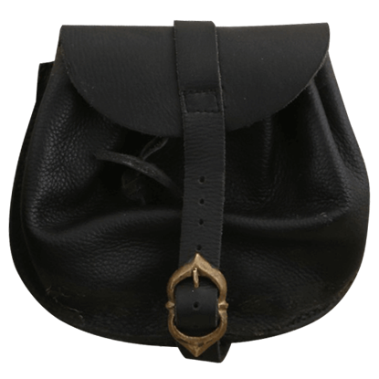 Buckled Medieval Leather Pouch