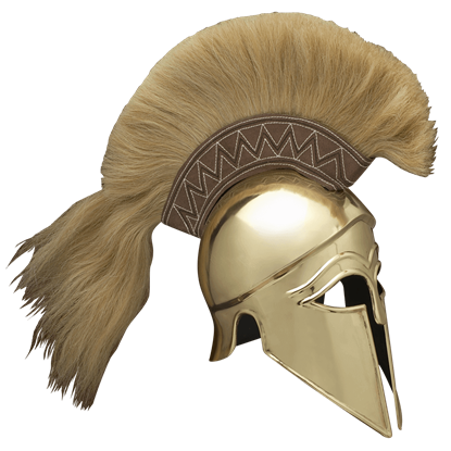 Italo Brass Corinthian Helm with Plume