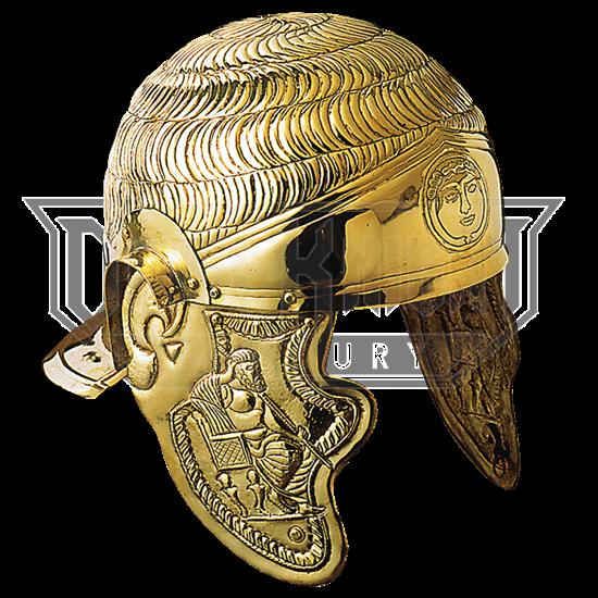 1st Century Roman Cavalry Embossed Helmet