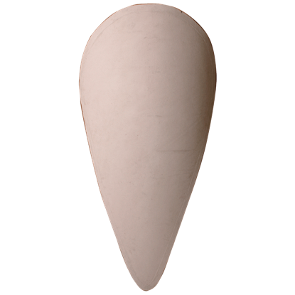 Blank Linen Covered Wooden Shield