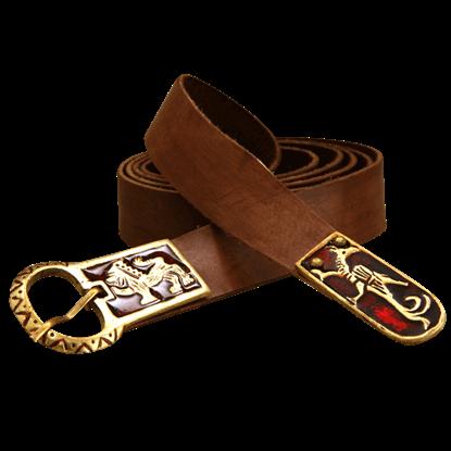 Norman Heraldry Leather Belt