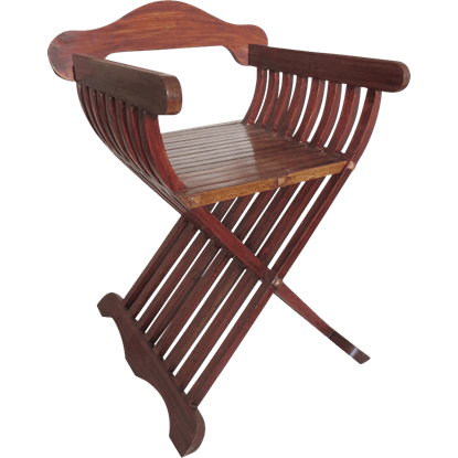 Medieval Wooden Folding Chair