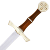 Brass Hilt Crusader Sword