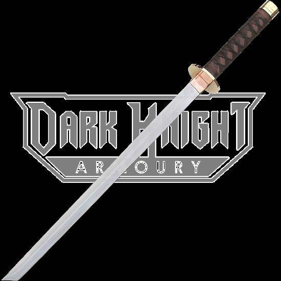 Braided Leather Ninja Short Sword
