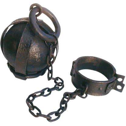 Prison Dungeon Ball and Chain Leg Shackles